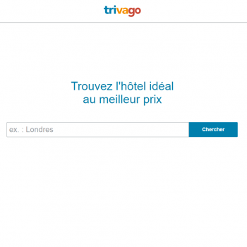 Trivago Landing page